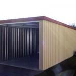 Stahlgarage 6x3m Profilwand mit Dekorputz außen